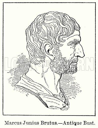 Marcus Junius Brutus.--Antique Bust. Illustration for Blackie's Modern Cyclopedia (1899).