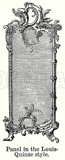 Panel in the Louis-Quinze Style. Illustration for Blackie's Modern Cyclopedia (1899).