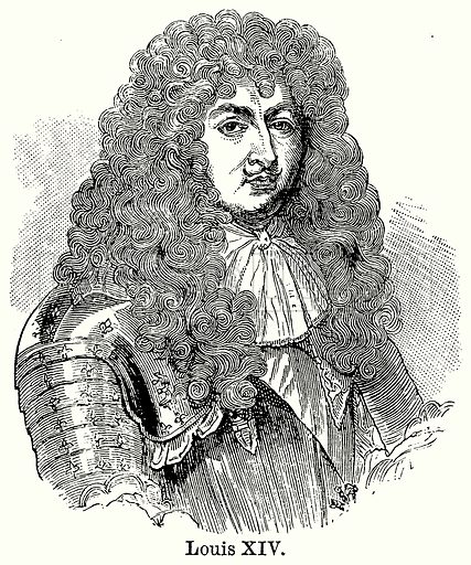 Louis XIV. Illustration for Blackie's Modern Cyclopedia (1899).