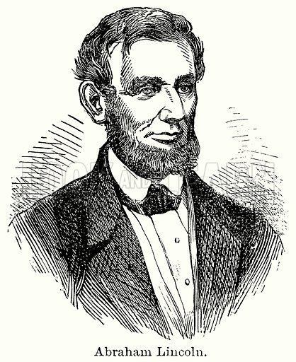Abraham Lincoln. Illustration for Blackie's Modern Cyclopedia (1899).