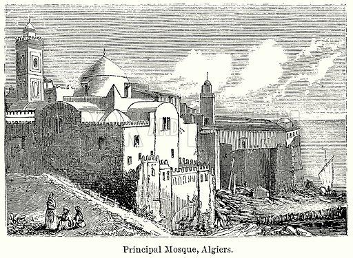 Principal Mosque, Algiers. Illustration for Blackie's Modern Cyclopedia (1899).
