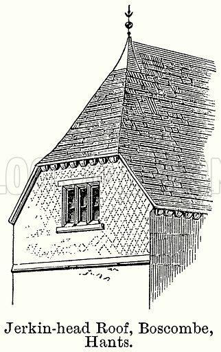 Jerkin-Head Roof, Boscombe, Hants. Illustration for Blackie's Modern Cyclopedia (1899).