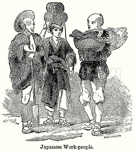 Japanese Work-People. Illustration for Blackie's Modern Cyclopedia (1899).
