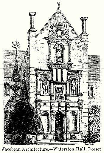 Jacobean Architecture. – Waterston Hall, Dorset. Illustration for Blackie's Modern Cyclopedia (1899).