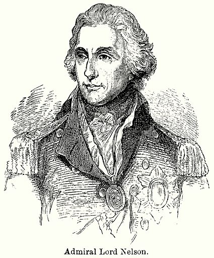 Admiral Lord Nelson. Illustration for Blackie's Modern Cyclopedia (1899).