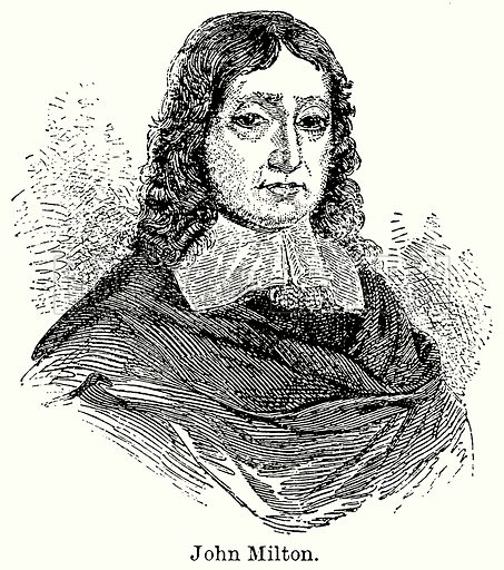 John Milton. Illustration for Blackie's Modern Cyclopedia (1899).