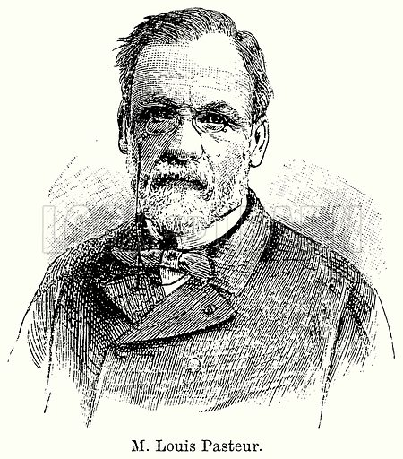 M. Louis Pasteur. Illustration for Blackie's Modern Cyclopedia (1899).