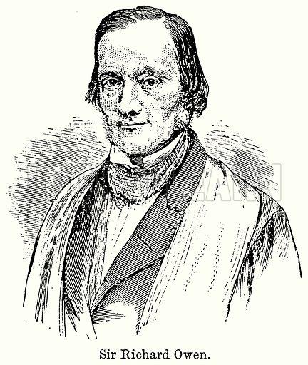Sir Richard Owen. Illustration for Blackie's Modern Cyclopedia (1899).