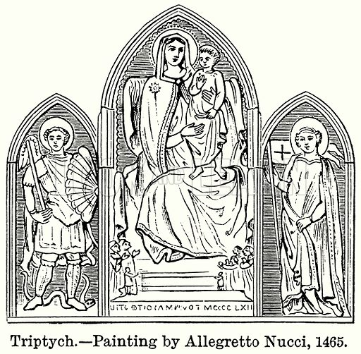 Triptych. Illustration for Blackie's Modern Cyclopedia (1899).