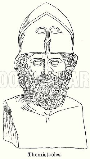 Themistocles. Illustration for Blackie's Modern Cyclopedia (1899).