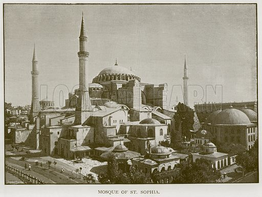 Mosque of St Sophia. Illustration for Blackie's Modern Cyclopedia (1899).
