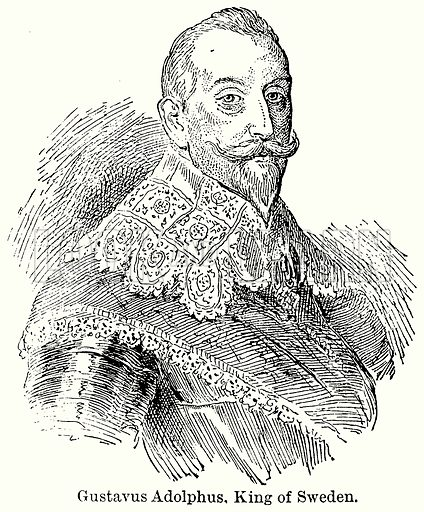 Gustavus Adolphus, King of Sweden. Illustration for Blackie's Modern Cyclopedia (1899).