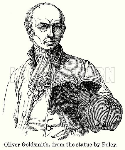 Oliver Goldsmith, from the Statue by Foley. Illustration for Blackie's Modern Cyclopedia (1899).