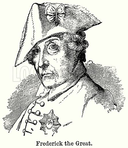 Frederick the Great. Illustration for Blackie's Modern Cyclopedia (1899).