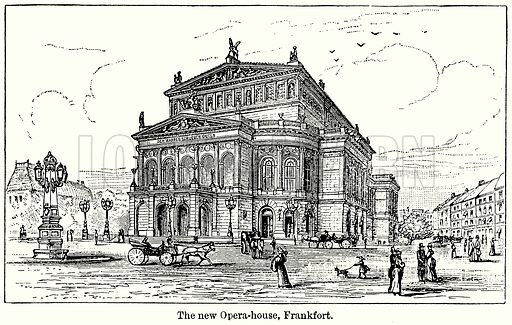The New Opera-House, Frankfort. Illustration for Blackie's Modern Cyclopedia (1899).