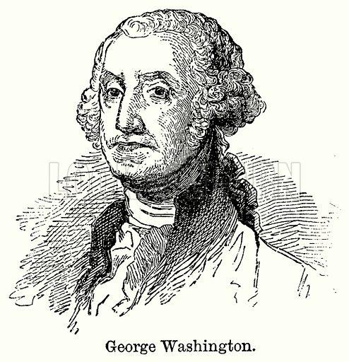 George Washington. Illustration for Blackie's Modern Cyclopedia (1899).