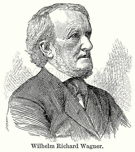 Wilhelm Richard Wagner. Illustration for Blackie's Modern Cyclopedia (1899).