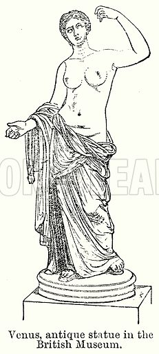 Venus, Antique Statue in the British Museum. Illustration for Blackie's Modern Cyclopedia (1899).