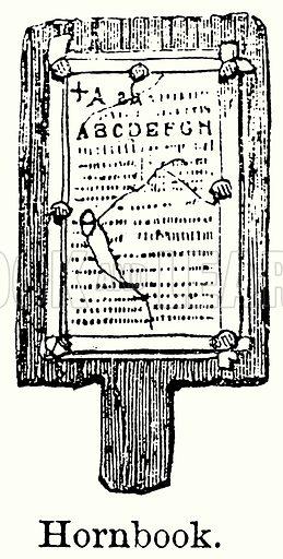 Hornbook. Illustration for Blackie's Modern Cyclopedia (1899).