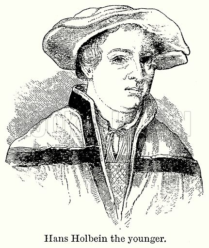 Hans Holbein the Younger. Illustration for Blackie's Modern Cyclopedia (1899).