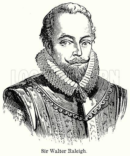 Sir Walter Raleigh. Illustration for Blackie's Modern Cyclopedia (1899).