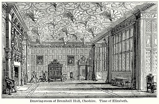 Drawing-Room of Bramhall Hall, Cheshire. Time of Elizabeth. Illustration for Blackie's Modern Cyclopedia (1899).