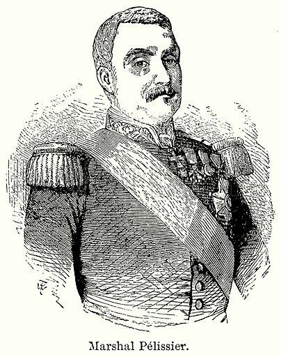 Marshal Pelissier. Illustration for Blackie's Modern Cyclopedia (1899).