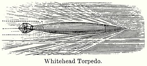 Whitehead Torpedo. Illustration for Blackie