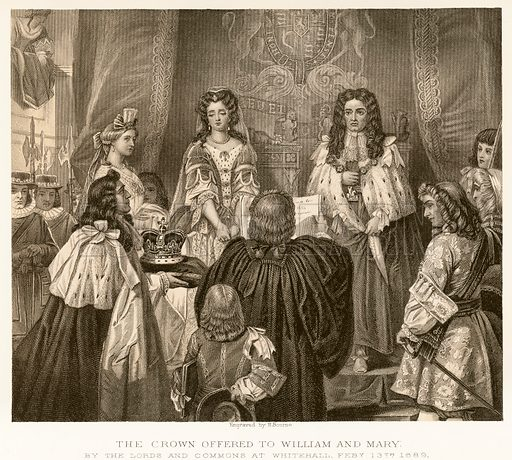 picture, WIlliam III, Mary II, William and Mary, William of Orange, coronation, royalty, monarchy