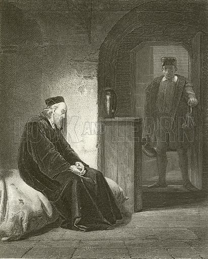 Sir Thomas More. Illustration from unidentified 19th century history of England.