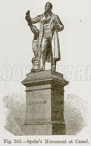 Spohr's Monument at Cassel. Illustration for The History of Music by Emil Naumann (Cassell, c 1890).