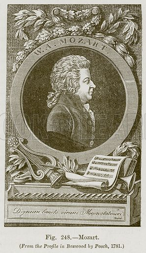 Mozart. Illustration for The History of Music by Emil Naumann (Cassell, c 1890).