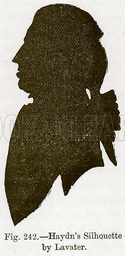 Haydn's Silhouette by Lavater. Illustration for The History of Music by Emil Naumann (Cassell, c 1890).