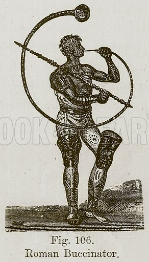 Roman Buccinator. Illustration for The History of Music by Emil Naumann (Cassell, c 1890).