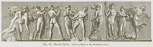 Bacchic Revel. Illustration for The History of Music by Emil Naumann (Cassell, c 1890).