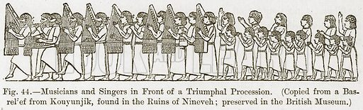 Musicians and Singers in Front of a Triumphal Procession. Illustration for The History of Music by Emil Naumann (Cassell, c 1890).