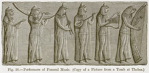 Performers of Funeral Music. Illustration for The History of Music by Emil Naumann (Cassell, c 1890).