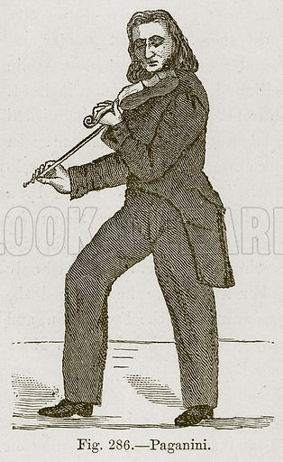 Paganini. Illustration for The History of Music by Emil Naumann (Cassell, c 1890).