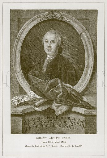 Johann Adolph Hasse. Born 1699; Died 1783. Illustration for The History of Music by Emil Naumann (Cassell, c 1890).