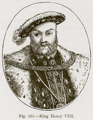 King Henry VIII. Illustration for The History of Music by Emil Naumann (Cassell, c 1890).