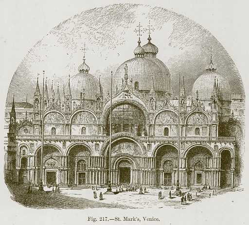 St Mark's, Venice. Illustration for The History of Music by Emil Naumann (Cassell, c 1890).