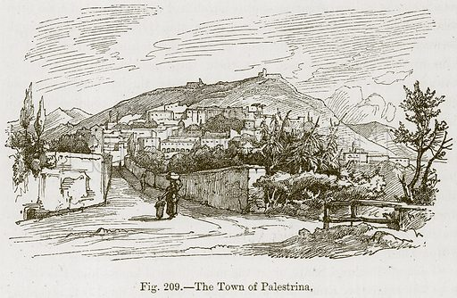 The Town of Palestrina. Illustration for The History of Music by Emil Naumann (Cassell, c 1890).