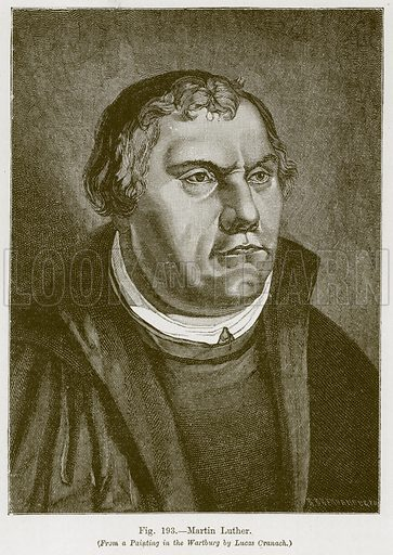 Martin Luther. Illustration for The History of Music by Emil Naumann (Cassell, c 1890).