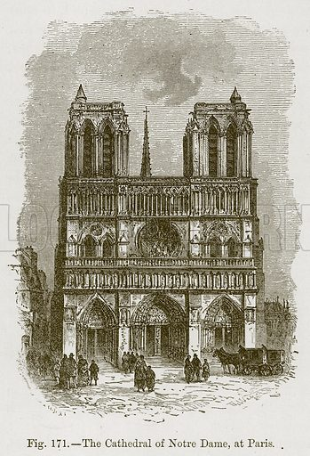 The Cathedral of Notre Dame, at Paris. Illustration for The History of Music by Emil Naumann (Cassell, c 1890).