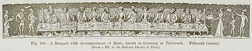 A Banquet with Accompaniment of Music, known in Germany as Tafelmusik. Fifteenth Century. Illustration for The History of Music by Emil Naumann (Cassell, c 1890).