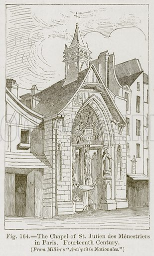 The Chapel of St Julien des Menestriers in Paris. Fourteenth Century. Illustration for The History of Music by Emil Naumann (Cassell, c 1890).