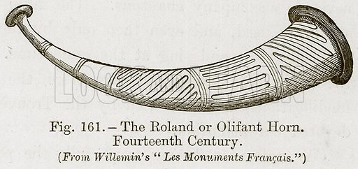 The Roland or Olifant Horn. Fourteenth Century. Illustration for The History of Music by Emil Naumann (Cassell, c 1890).
