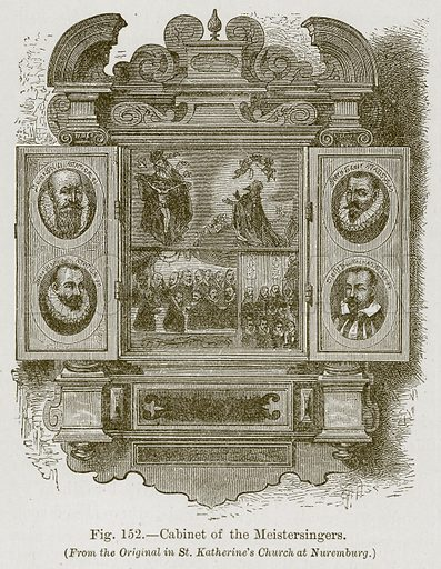 Cabinet of the Meistersingers. Illustration for The History of Music by Emil Naumann (Cassell, c 1890).