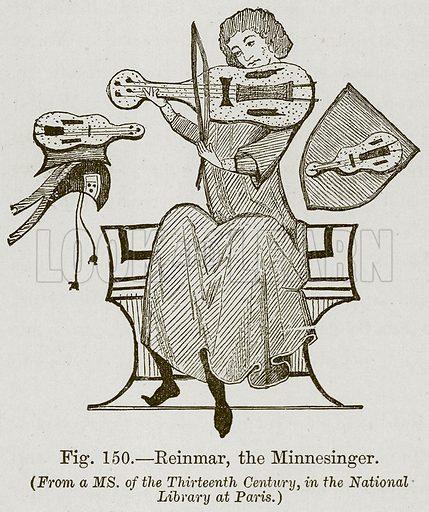 Reinmar, the Minnesinger. Illustration for The History of Music by Emil Naumann (Cassell, c 1890).