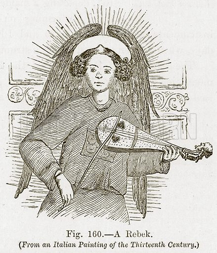 A Rebek. Illustration for The History of Music by Emil Naumann (Cassell, c 1890).